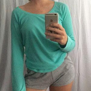 Teal waffle long-sleeve from VS